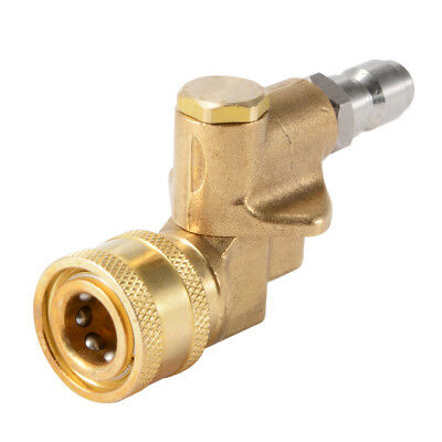 "Angle Adjustable High Pressure Washer Pivot Coupler 1/4"" Quick Connect HS1077"