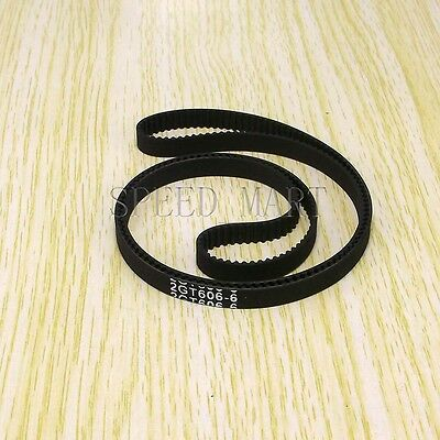 GT2 Timing Belt Annular Loop Cogged Closed Rubber 6mm Width 2mm Pitch 848-2GT