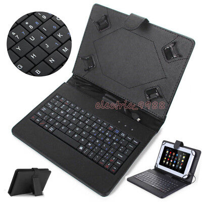 """For Samsung Galaxy Tab A E S2 S3 7"""" 8"""" 10.1"""" Tablet USB Keyboard Leather Case"""