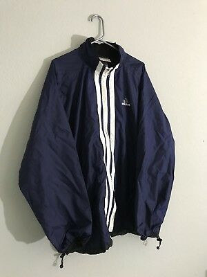 Vintage Adidas Sport Warm Up Athletic Track Jacket Mens Size XL Tall