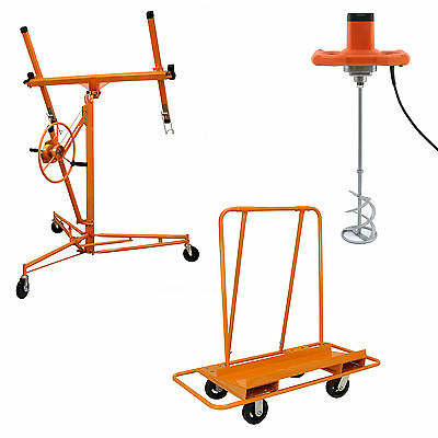 Paddle Mixer Drywall Hoist Lift Plasterboard Sheet Trolley Plastering Tools Kit