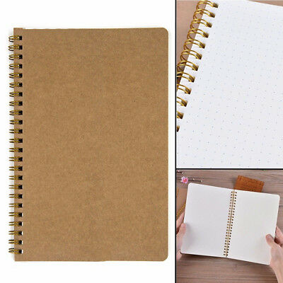 Medium A5 Dotted Grid Spiral Notebook Journal Cardboard Soft Cover 100 Pages Hot