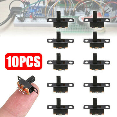 10pcs SPDT ON-Off Miniature Slide Switch Electronic Component DIY Power Black