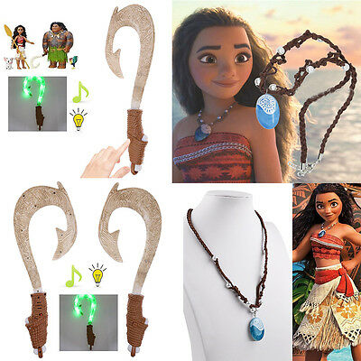 Mode Moana Princess Vaiana Halskette Necklace & Maui Light-Up Sound Fisch Haken