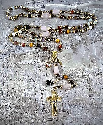 Miscarriage Child Loss St Catherine of Sienna Two tone Rosary Grieving Remembran