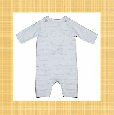 Baby Boy Girl Dungarees 2 PIECE Set PADDED Tiny to 3-6 Months
