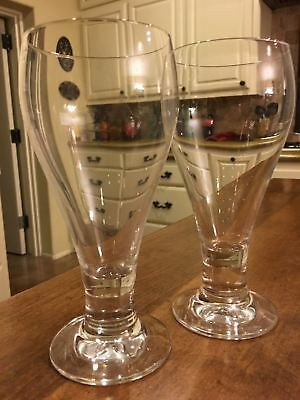 Lot of 2 Schott-Zwiesel Crystal Flute Pilsner Champagne Beer Glasses Germany