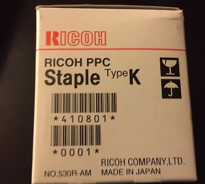 (1) New RICOH PPC Staple Type K Cartridge 410801  NEW IN ORIGINAL FACTORY