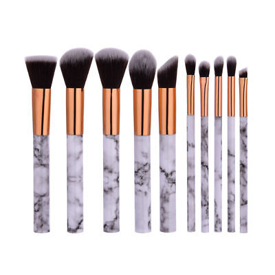 10pcs Marble Makeup Brushes Set Powder Foundation Eyeshadow Eyeliner Lip Brush