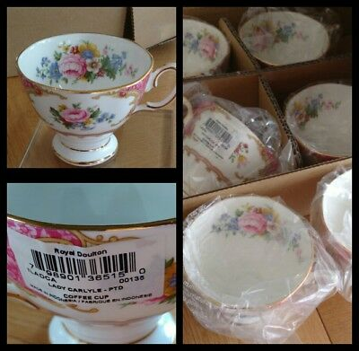 China Royal Albert LADY CARLYLE BRAND NEW BNWT SET OF 6 coffee cup 1st Quality