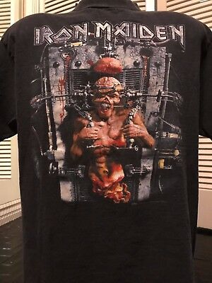 VTG 95 Iron Maiden X Factor Tour Shirt Sz XL Anthrax Slayer Rock Megadeth Metal