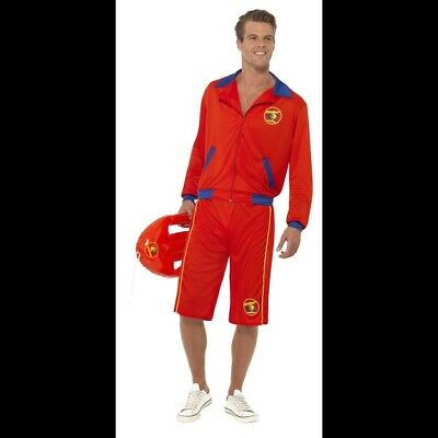10257d13e0ac Menu0027s Fancy Dress Baywatch Lifeguard Costume Jacket U0026 Long Shorts  Stag Hunk Fun Sc 1 St PicClick UK