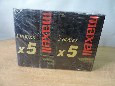 Maxell E180 VX (10 Cassettes Tapes) 30 Hours Recording Time High Quality Grade