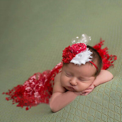 Newborn Maternity Baby Lace Flower Scarf Photo Props Photography Quilt Wide