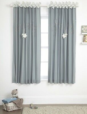 SALE BNWT MAMAS AND PAPAS MILLIE AND BORIS BOYS LINED CURTAINS SIZE 132 x 160 CM