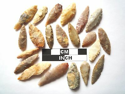 20 x Leaf Style Neolithic Arrowheads - 4000BC - (982)