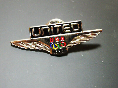 United Airlines Usa Olympic 1992 Wings Olympics Lapel Pin