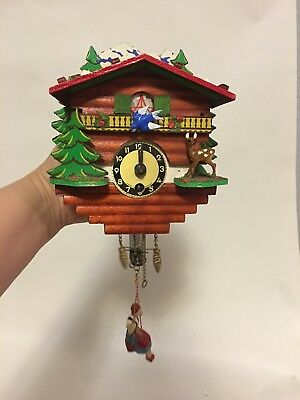 Vintage Made in Germany Cuckoo Swing Clock - Not Tested