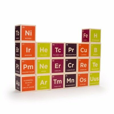 New Uncle Goose Elemental Periodic Table Blocks, New in Packaging