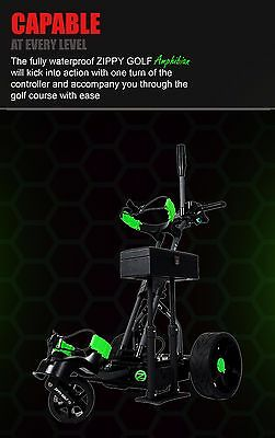 Zippy Golf IPX8 Fully Waterproof & Full Suspension Electric Golf Buggy