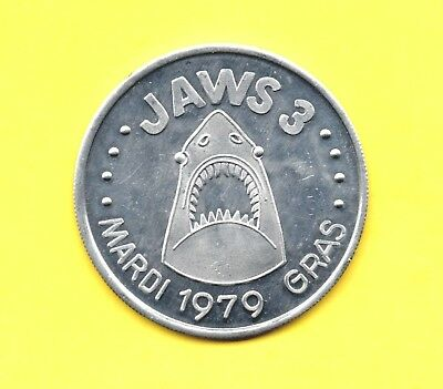 Jaws 3 Token ~ 1979 Shark Movie Coin
