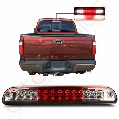For 1999-16 Ford F-250 F-350 F-450 Super Duty Red Rear 3Rd Brake Light 2-Row Led