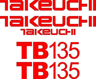 Takeuchi Decal Set for TB135(decals stickers kit Loader Excavator)