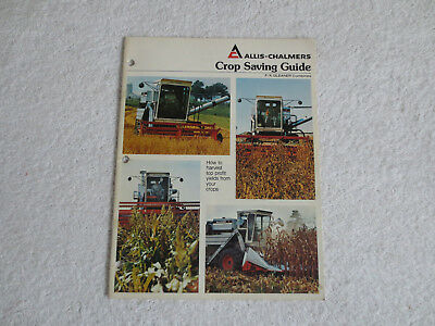 Vintage Allis Chalmers Gleaner Combine Crop Saving Guide Literature Brochure