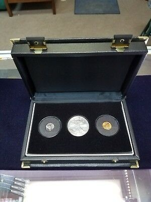 1999 Uncirculated Gold, Platinum and Silver American Eagle set