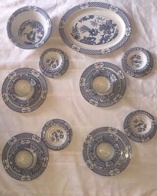 Wood & Sons England YUAN Pattern 27 Pcs. Service For 4 Excellent