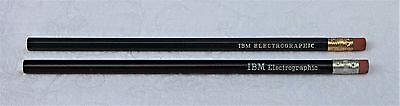 Two Vintage IBM Electrographic Pencils - One Hexagon & One Round Barrel