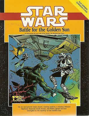 STAR WARS Roleplaying Game West End Games BATTLE FOR THE GOLDEN SUN (Adventure)