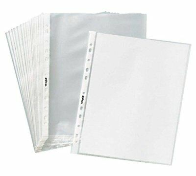 200 Pack Economy Non Glare Matte Top loading Poly Office Page Sheet Protectors