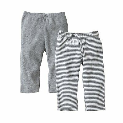96e3be277 Burts Bees Baby-Set of 2 Bee Essentials Footless Pants, 100% Organic Cotton
