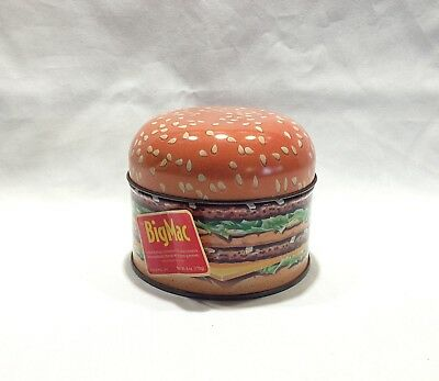1996 Limited Edition McDonalds Big Mac Collectors Metal Tin Hamburger Vintage