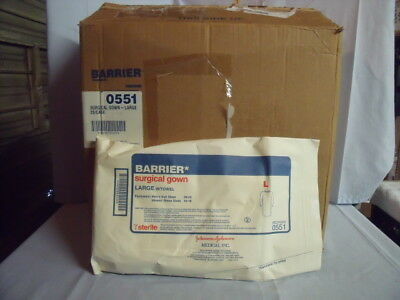 Lot of 28 Johnson & Johnson Large Barrier Surgical Gown w/ Towel Ref 0551! J2