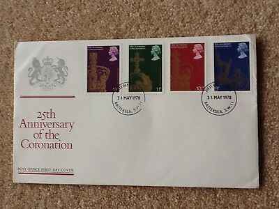 25Th Anniversary Of The Coronation First Day Cover 31 May 1978 Excellent