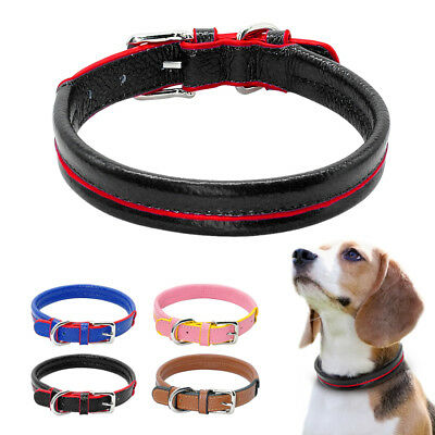 Soft Leather Designer Pet Puppy Dog Collars Adjustable for Small Medium Dogs