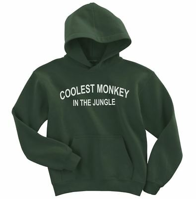 coolest monkey in the jungle Hoodie Adult size Forest Green S-3XL
