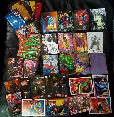 Huge lot of Marvel and DC Promo Trading Cards