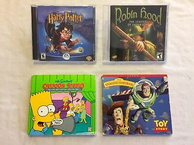 CD-ROM Game Bundle - Harry Potter, Robin Hood, Toy Story, and The Simpsons