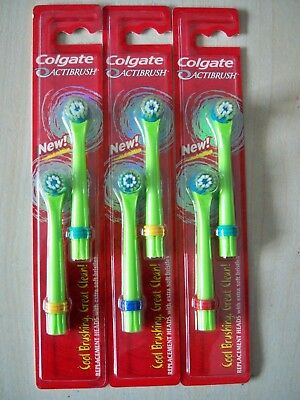 3 X 2 Colgate Actibrush Replacement Toothbrush Heads - Extra Soft Bristles