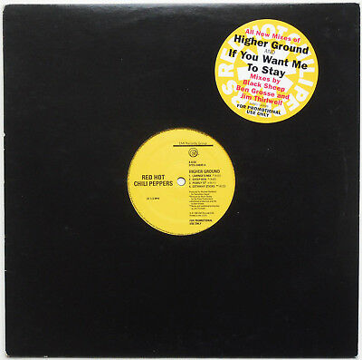 "Red Hot Chili Peppers ‎- Higher Ground / If You Want Me To Stay 12"" EP US PROMO"