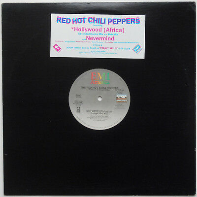 "Red Hot Chili Peppers ‎- Hollywood (Africa) / Nevermind 12"" EP 1985 USA PRESS"