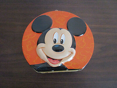 Walt Disney Mickey Mouse And Pals Collectible Tin Metal Lunch Pail Box