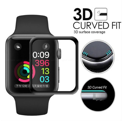 Apple Watch Series 3 Tempered Glass Screen Protector Full Edge 38mm /42mm iWatch