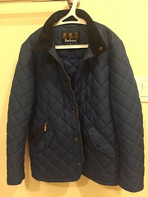 Genuine Barbour Jacket Mens Medium Blue Quilted Walking Sportsman Coat