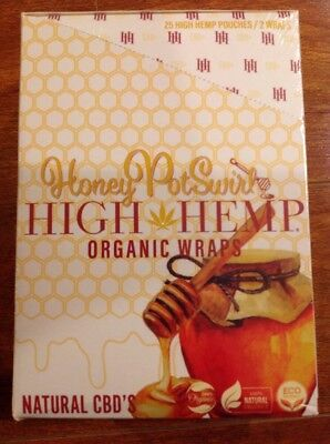 FREE GIFTS IF U BUY Honey PotSwirl High Hemp Herbal Organic Wraps 25pack 50wraps