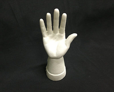 Cast Iron Hand Ring Holder Antiqued White Color