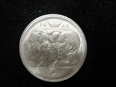 Rare 1949 Belgium 100 Francs Silver Coin!  18G 0.835 Silver! Must See! #8Belg1